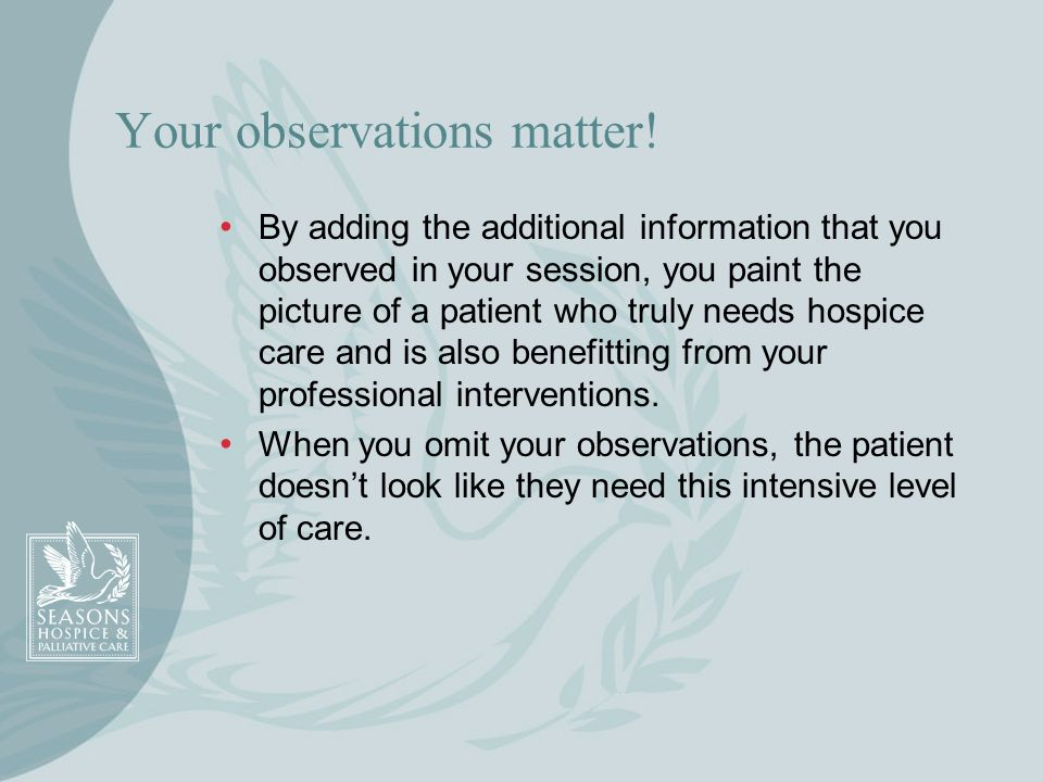 Your observations matter!