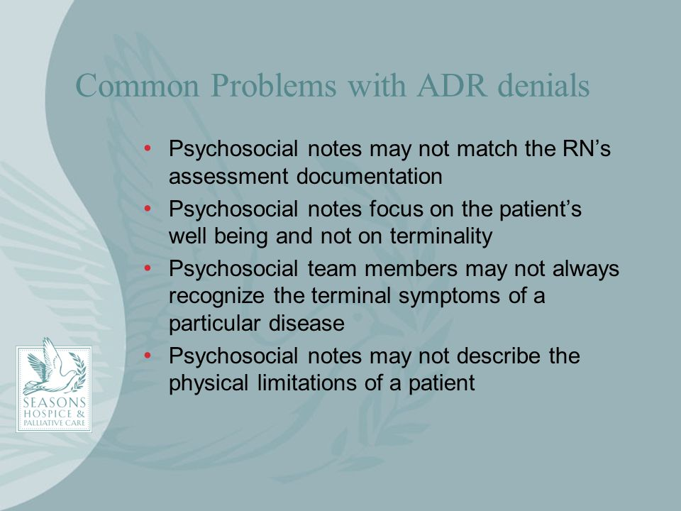 Common Problems with ADR denials