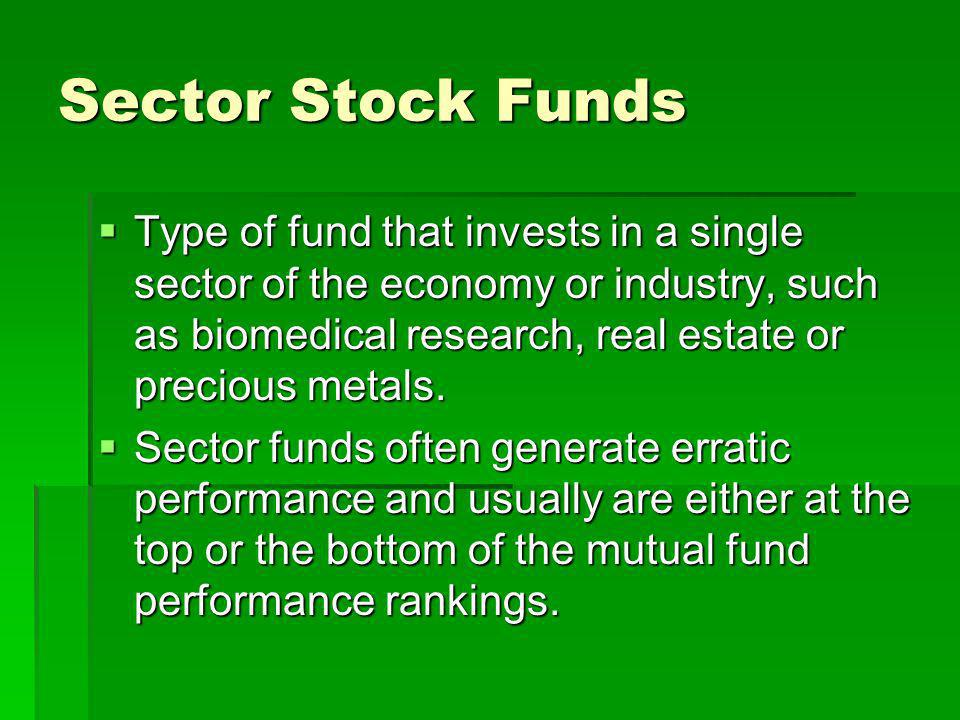 Sector Stock Funds