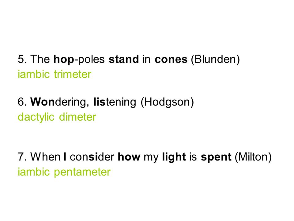 5. The hop-poles stand in cones (Blunden)