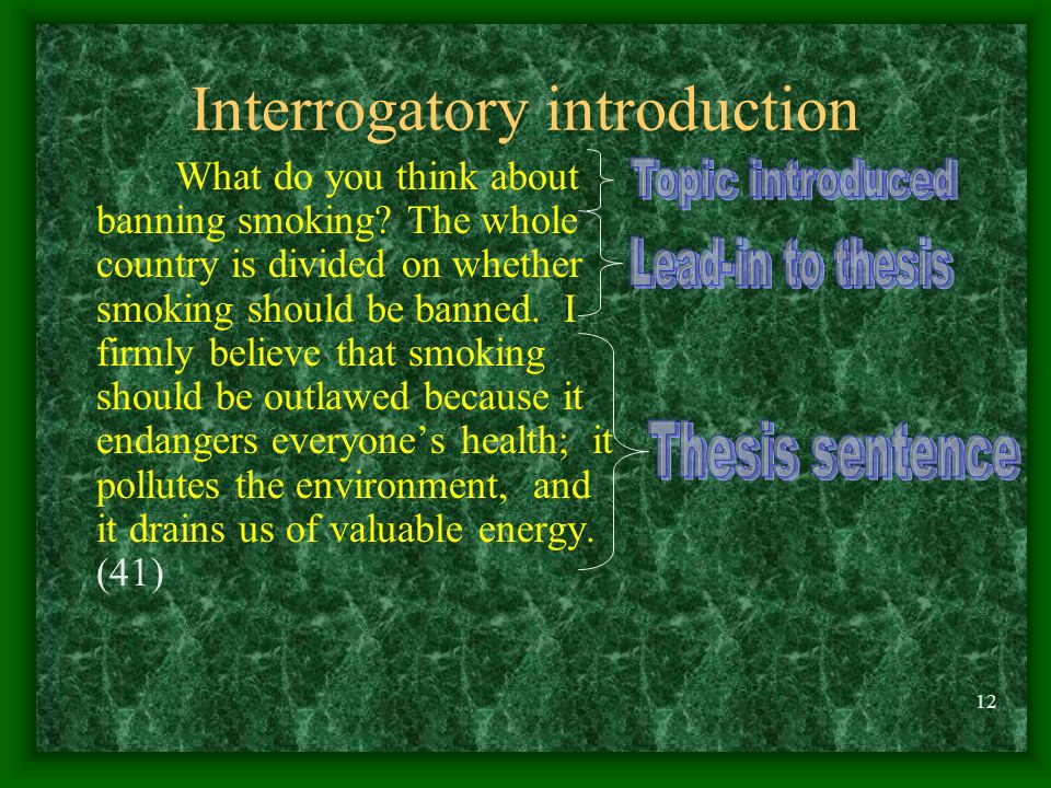Interrogatory introduction