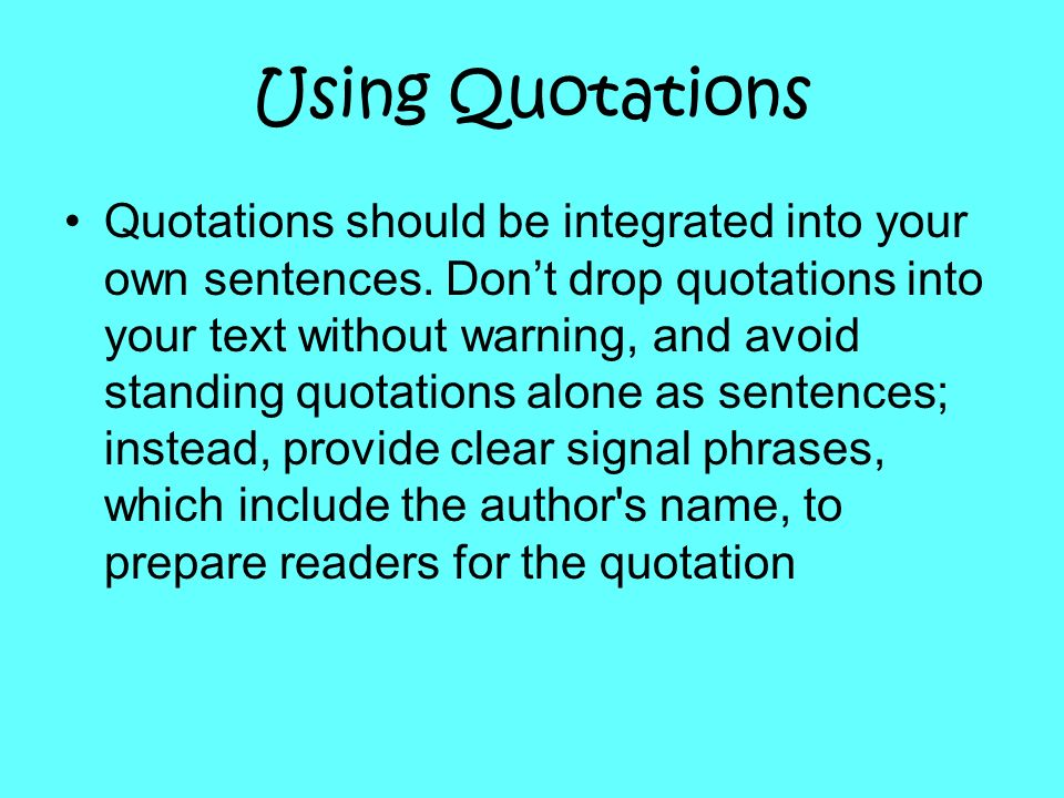 Using Quotations