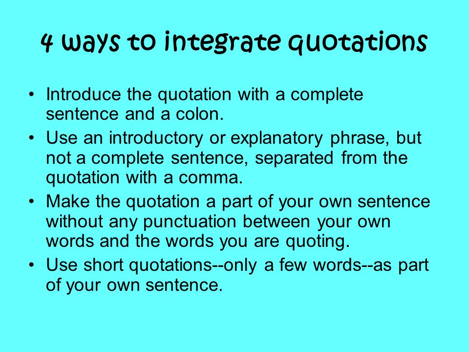 4 ways to integrate quotations