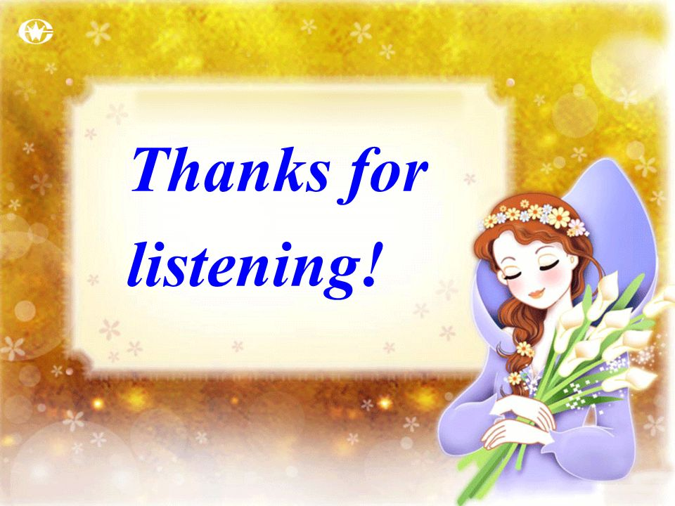 Thanks for listening!