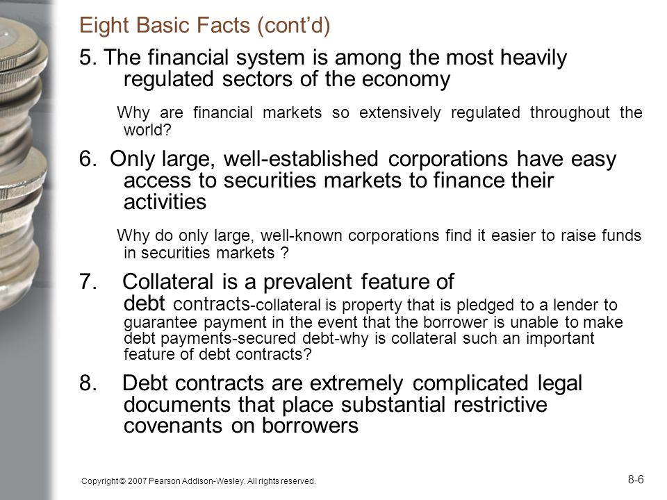 Eight Basic Facts (cont'd)