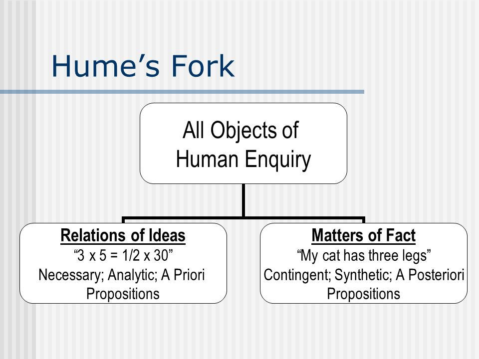 Hume's Fork