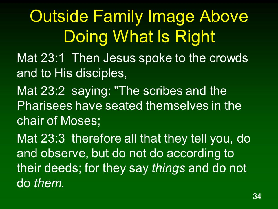 Outside Family Image Above Doing What Is Right