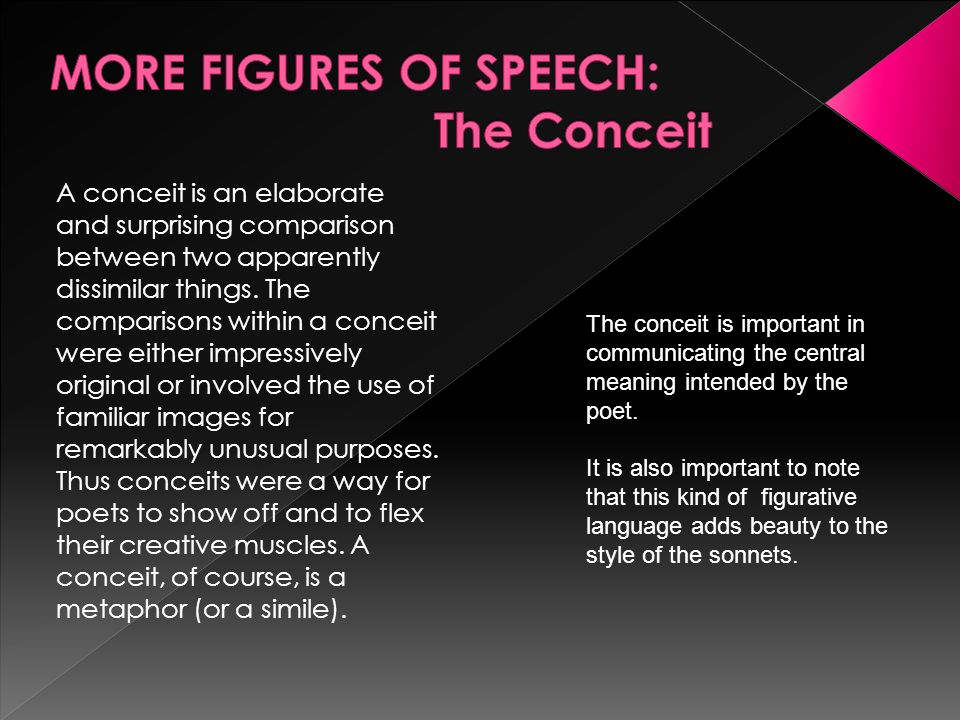 MORE FIGURES OF SPEECH: The Conceit