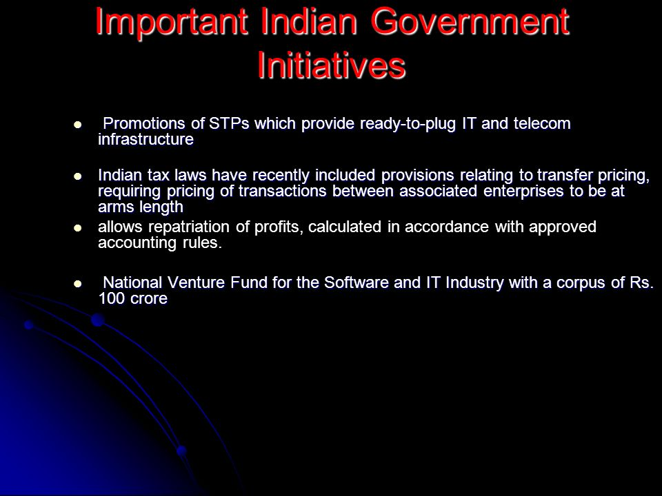 Important Indian Government Initiatives