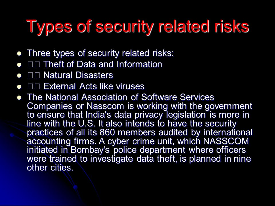 Types of security related risks