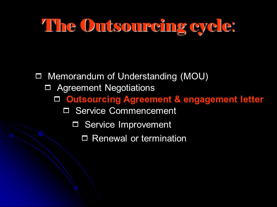 The Outsourcing cycle: