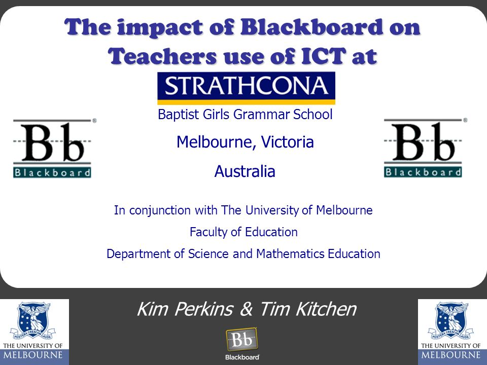 The impact of Blackboard on Teachers use of ICT at