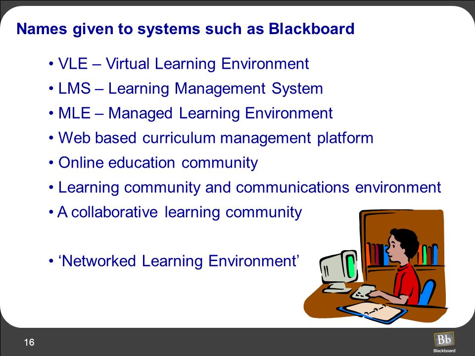 Names given to systems such as Blackboard