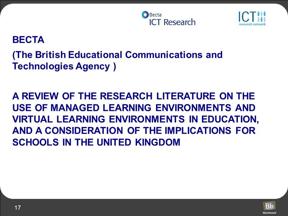 BECTA (The British Educational Communications and Technologies Agency )
