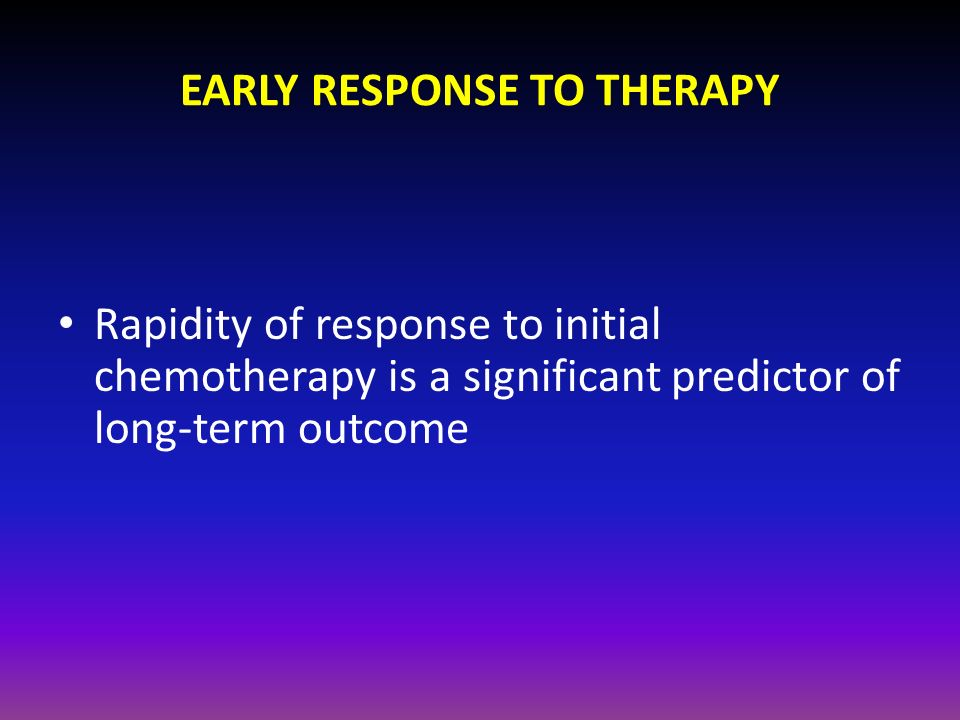 EARLY RESPONSE TO THERAPY