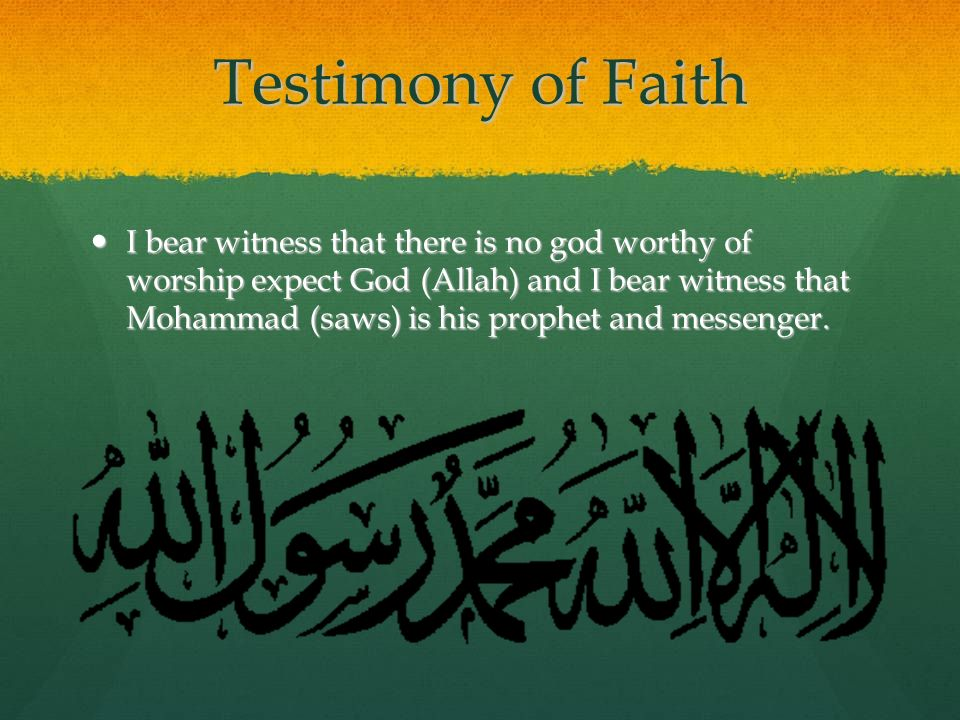 Testimony of Faith