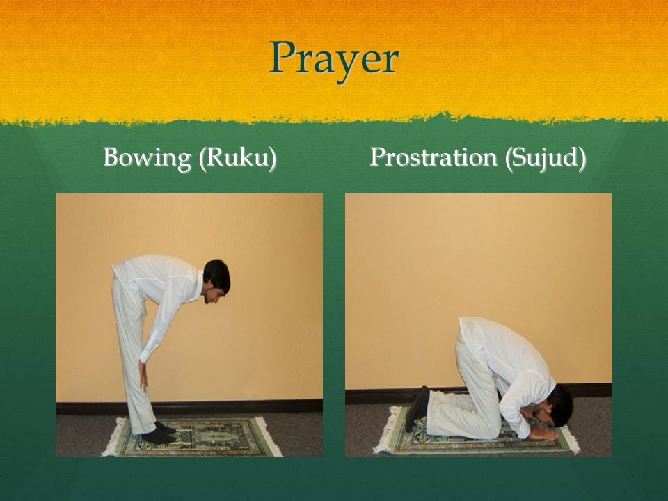Prayer Bowing (Ruku) Prostration (Sujud)