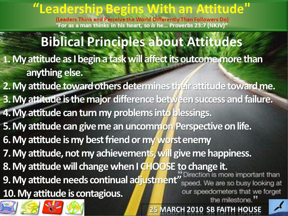 Biblical Principles about Attitudes