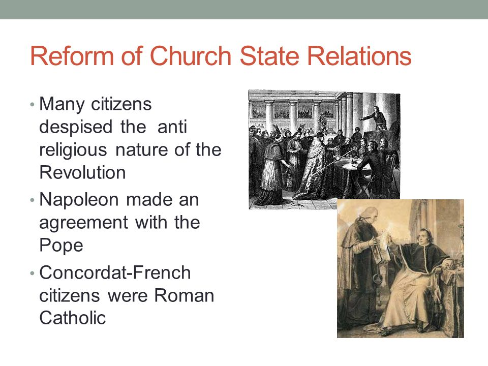 Reform of Church State Relations