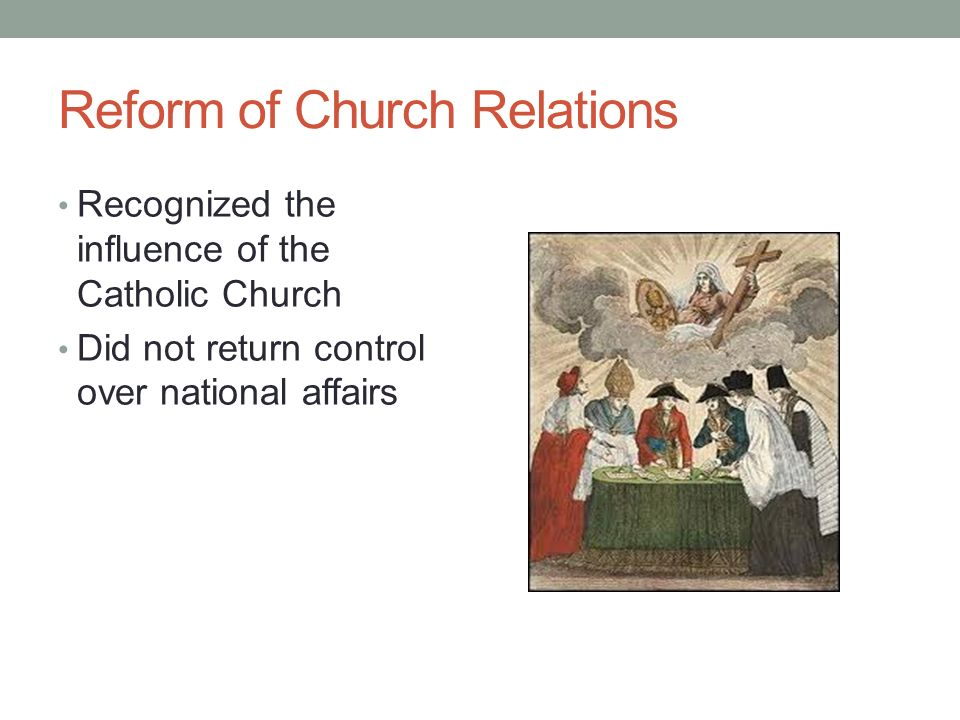 Reform of Church Relations