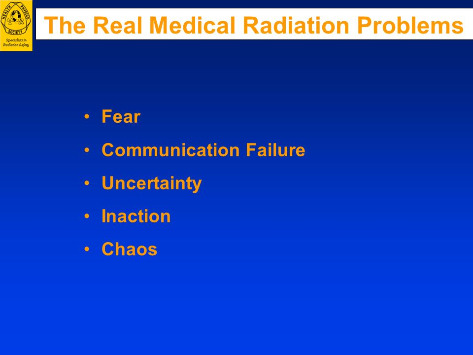 The Real Medical Radiation Problems