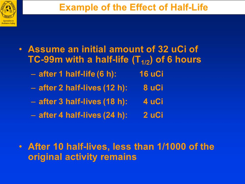 Example of the Effect of Half-Life