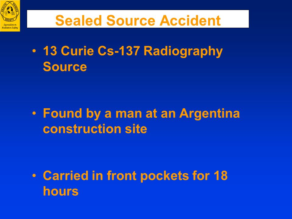 Sealed Source Accident