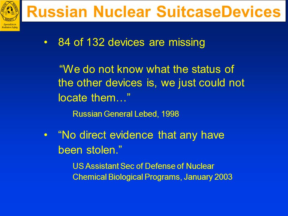 Russian Nuclear SuitcaseDevices