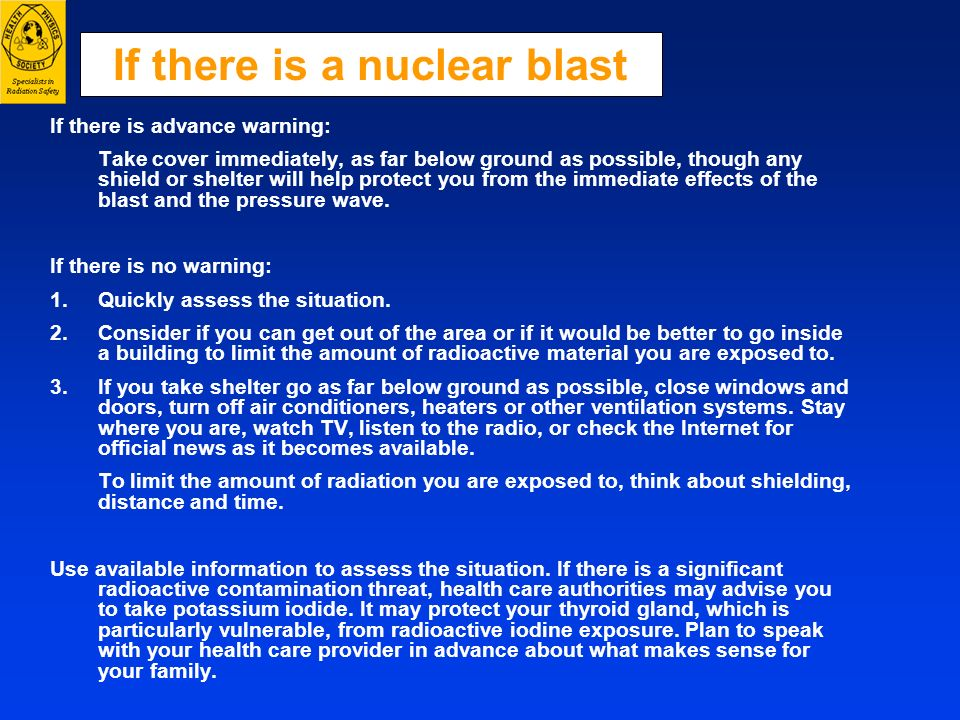 If there is a nuclear blast