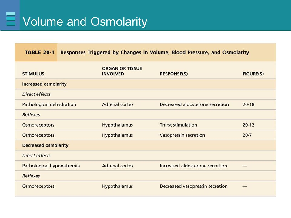 Volume and Osmolarity
