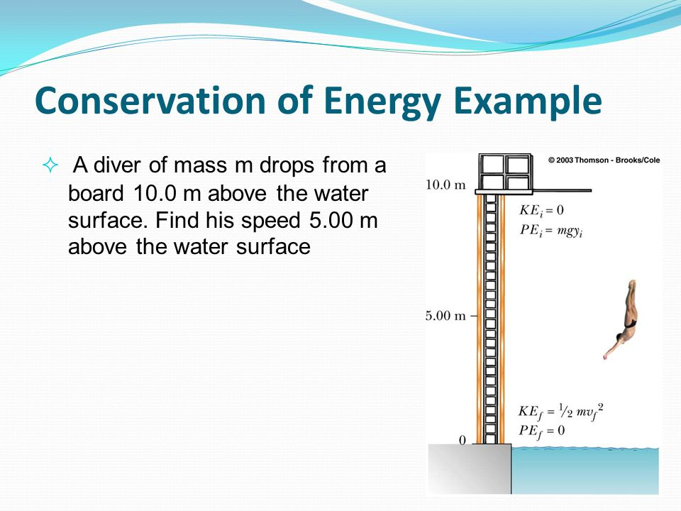 what is an example of conservation of energy