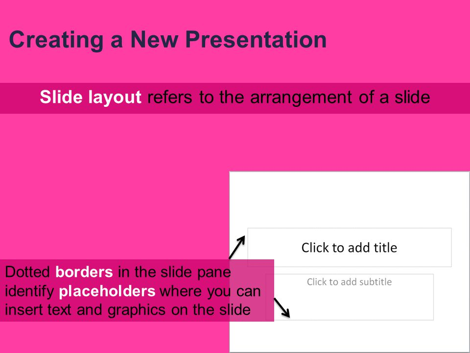 Creating a New Presentation