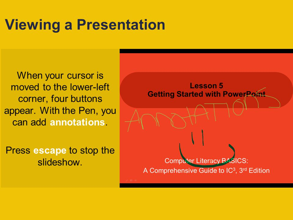 Viewing a Presentation