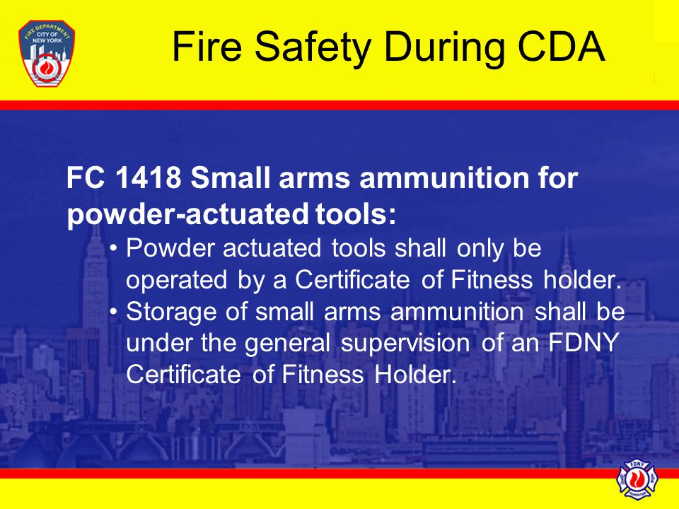 New York City Fire Code Chapter 14 Fire Safety During Construction