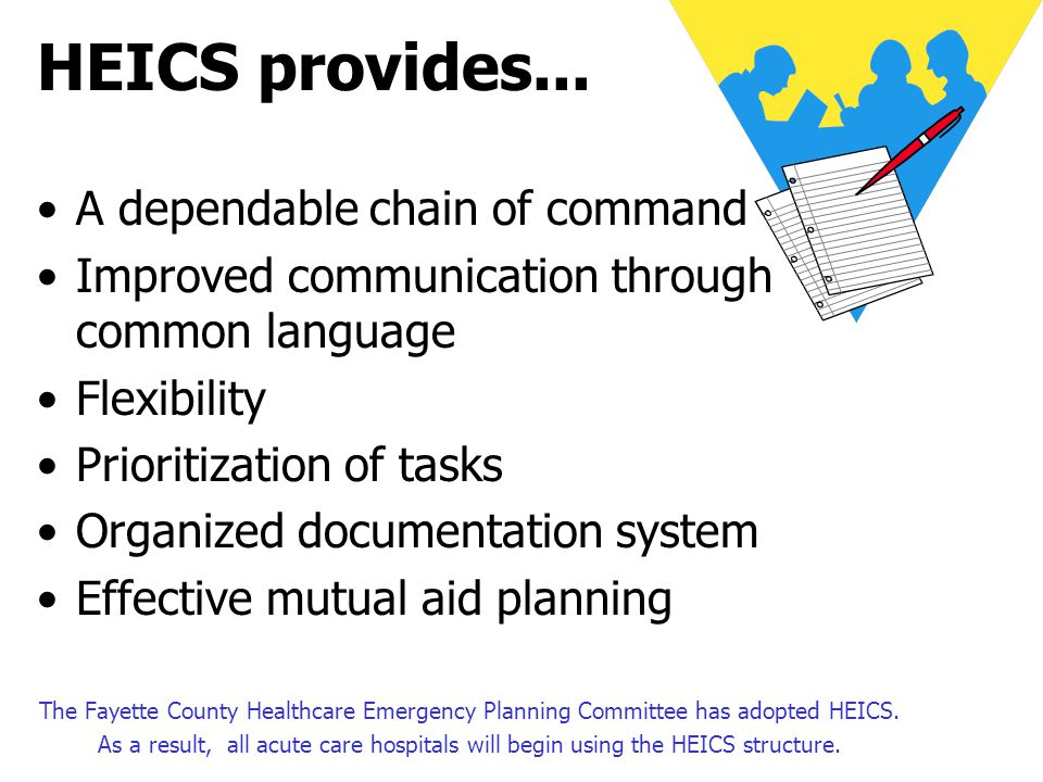 HEICS provides... A dependable chain of command