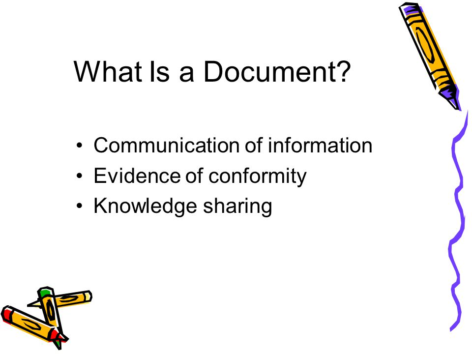 What Is a Document Communication of information