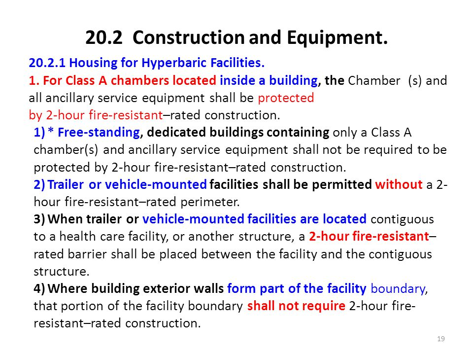 20.2 Construction and Equipment.