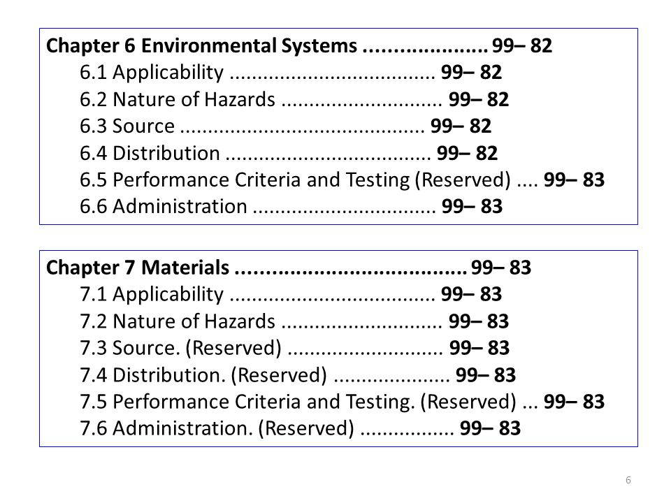 Chapter 6 Environmental Systems ..................... 99– 82
