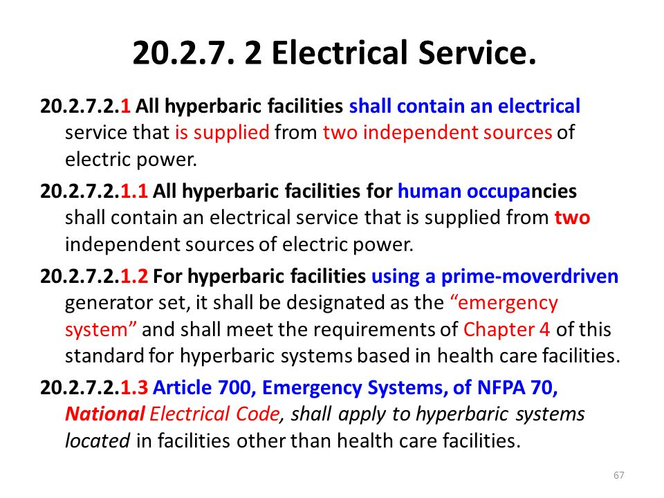 20.2.7. 2 Electrical Service.