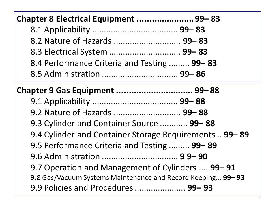 Chapter 8 Electrical Equipment ....................... 99– 83