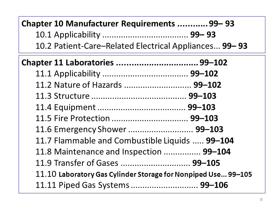 Chapter 10 Manufacturer Requirements ............ 99– 93