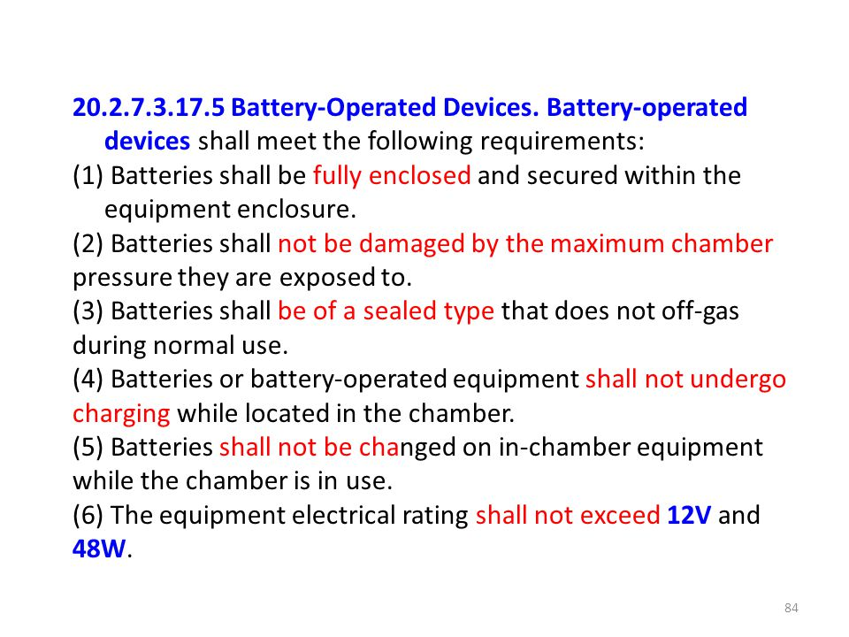 20. 2. 7. 3. 17. 5 Battery-Operated Devices