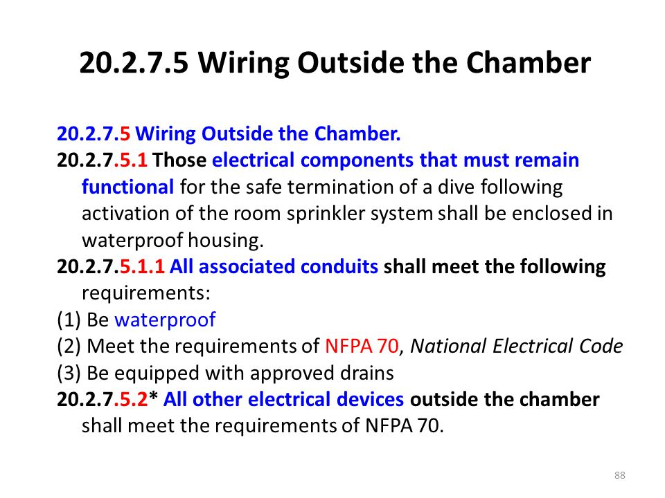 20.2.7.5 Wiring Outside the Chamber