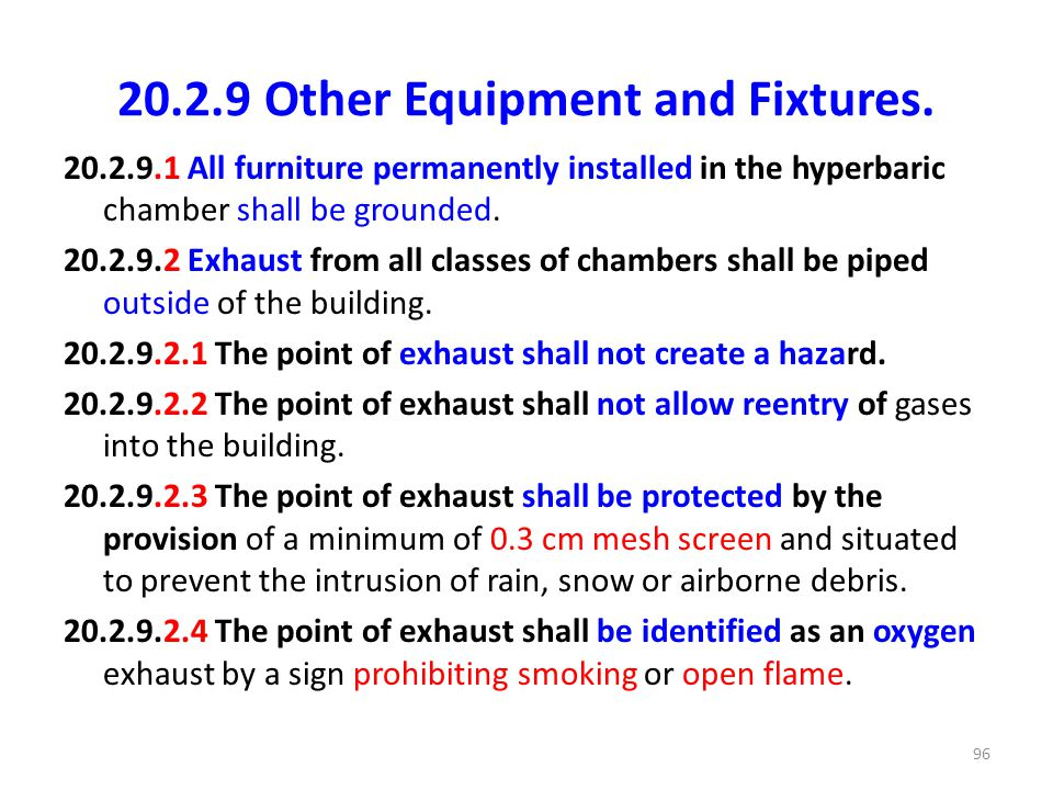20.2.9 Other Equipment and Fixtures.