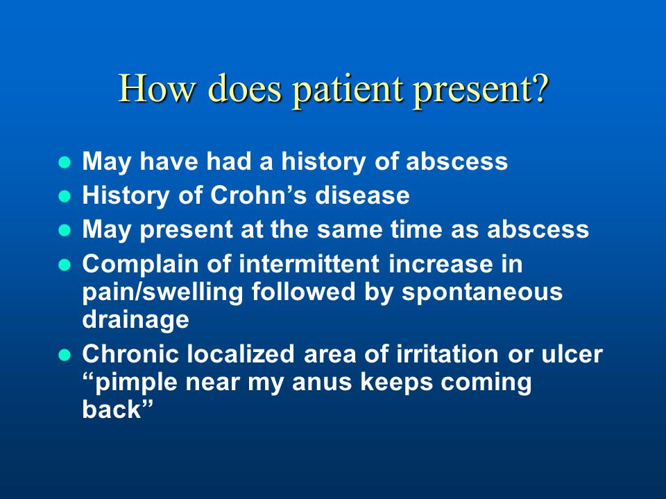 How does patient present