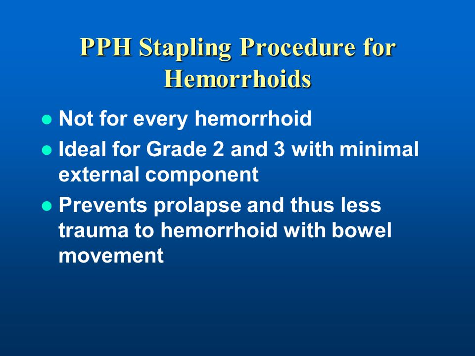 PPH Stapling Procedure for Hemorrhoids