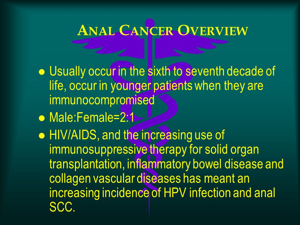 Can help increased incidence of anal cancer were