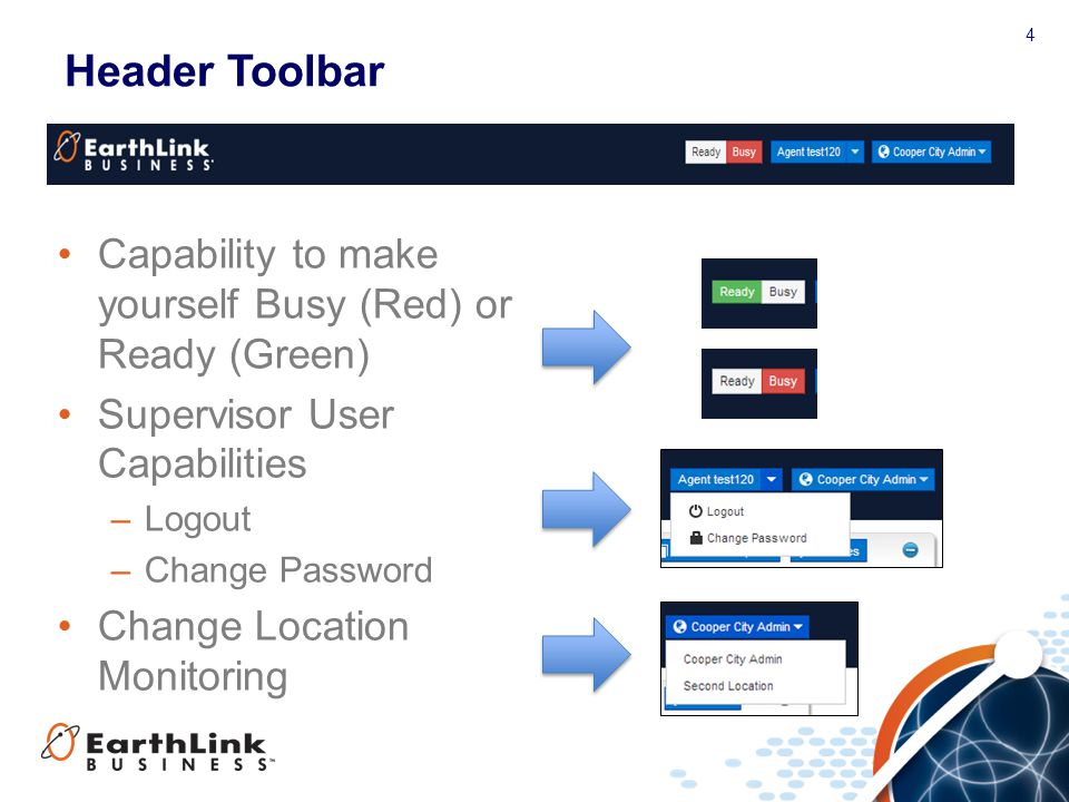 Header Toolbar Capability to make yourself Busy (Red) or Ready (Green)