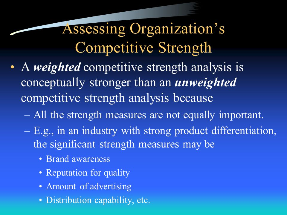 Assessing Organizations Competitive Strength