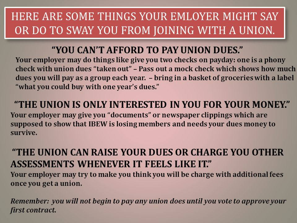 Your company thinks you don't need a union  - ppt download